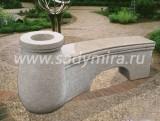Скамейка с вазоном арт. 0158...